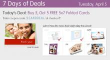 IMAGE: Buy 5 photo cards, get 5 free at Walgreens today