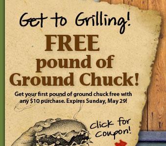 Earth Fare ground chuck coupon
