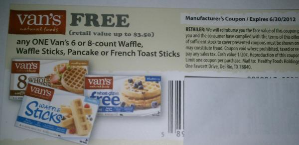 Van's coupon giveaway