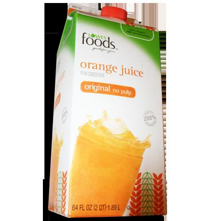 Aisle50.com Lowes Foods orange juice deal