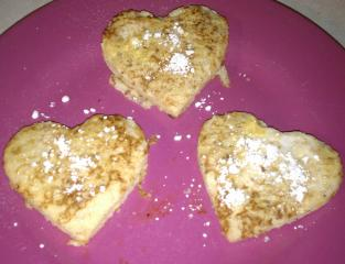 Heart shaped French toast