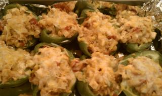 Stuffed peppers with tofu