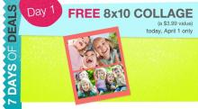 IMAGE: Walgreens 7 Days of Deals: FREE 8 x 10 collage 4/1 only!