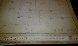 Chick-fil-A calendar