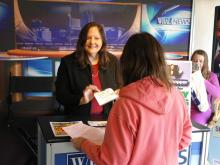 Thrifty shoppers turned out Friday to meet WRAL Smart Shopper Faye Prosser at the NC State Fair.