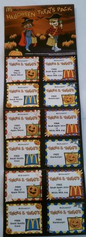 Mcdonald S Halloween Coupon Booklet 12 Free Product Coupons For 1 00 Wral Com