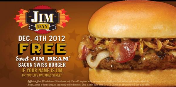 Free Red Robin burger