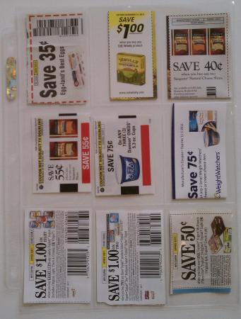 Coupon organizer pages