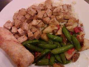 Teriyaki tofu and veggies