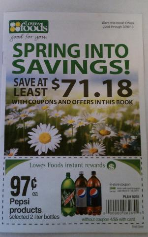 Lowes Foods coupon book
