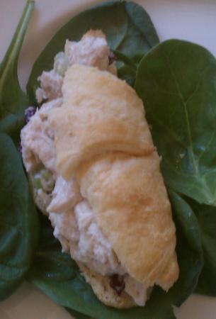 Chicken salad on croissant