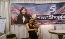 Juanita at the Smart Shopper booth!
