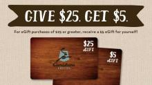 IMAGE: Caribou Coffee: Get $5 e-gift card when you buy $25 in e-gift cards