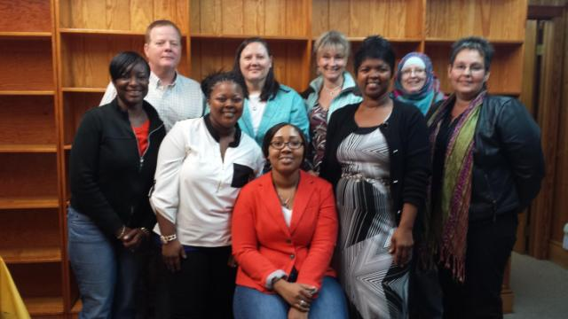 Here are many of the wonderful folks who took the class from the Share food bank group in Zebulon.