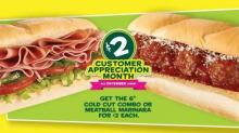 IMAGE: Subway Customer Appreciation Month: $2 select subs!