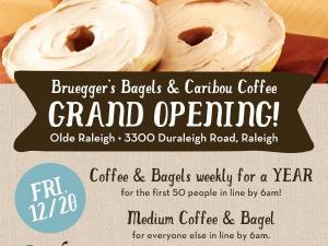 Bruegger's grand opening