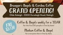 IMAGE: Bruegger's Bagels & Caribou Coffee Grand Opening giveaways!