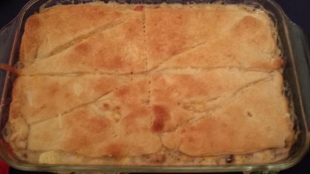 CHicken pot pie with crescents