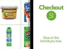 Checkout 51 with groceries