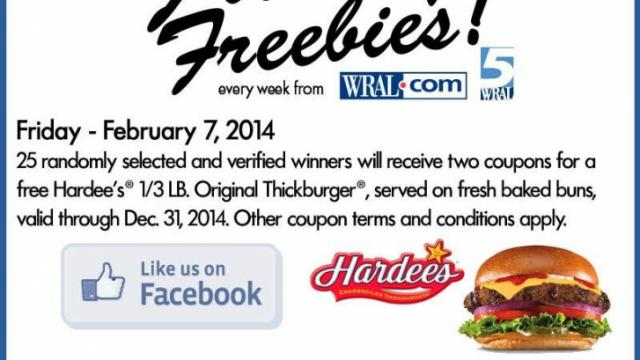 Hardees Giveaway