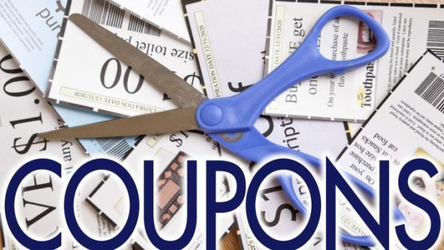 Coupons with scissors