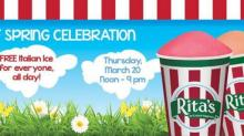 IMAGE: Reminder: FREE Rita's Italian Ice today, Thursday, March 20th!