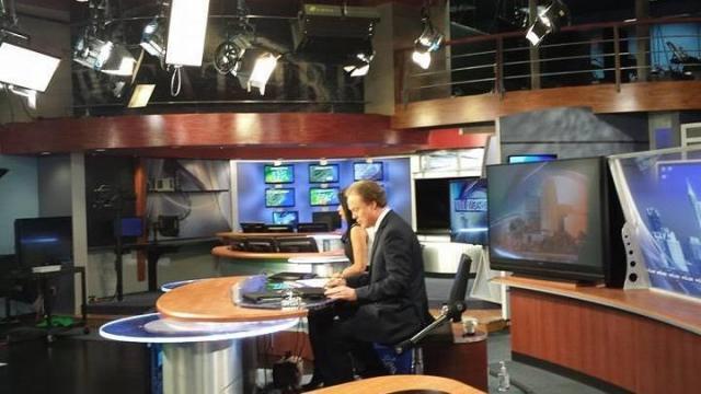 WRAL TV studio
