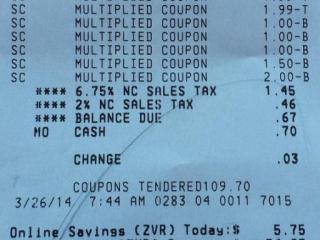 Harris Teeter Super Doubles receipt 3-26-14.