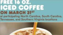 IMAGE: FREE Iced Coffee from Dunkin Donuts on Monday!