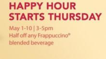 IMAGE: Starbuck's Frappuccino Happy Hour May 1 - May 10!