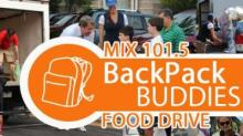 IMAGE: WRAL-FM Backpack Buddies Food Drive is today!