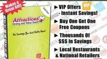 IMAGE: Giveaway:  Attractions Dining and Value Guide coupon books!