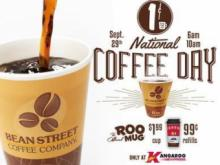 Enoy a cup o' joe on the house during National Coffee Day