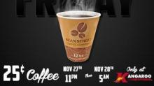 IMAGE: Kangaroo Express offers coffee for 25 cents on Black Friday