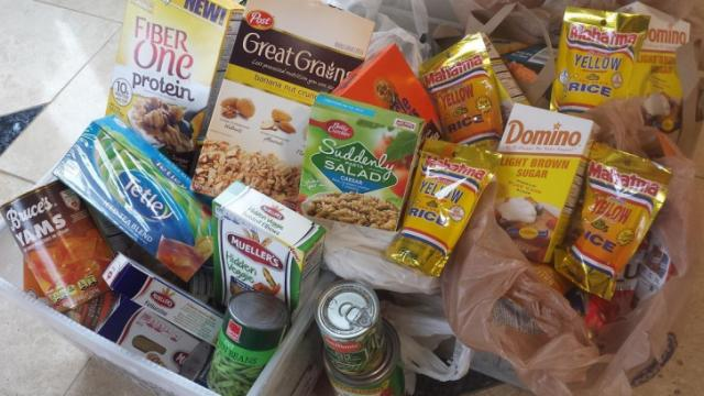 Food donations to the Food Bank of Central and Eastern North Carolina.