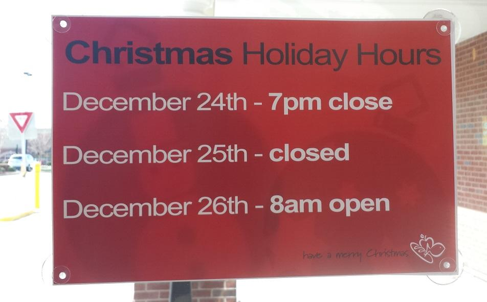 Christmas hours for Triangle-area grocery, drug stores :: WRAL.com