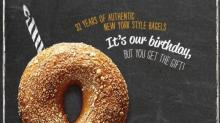 IMAGE: Reminder: 3 FREE Bruegger's bagels today!