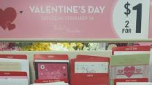 Valentine's Day Cards at Dollar Tree