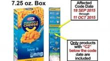 IMAGES: Kraft Mac & Cheese recall includes 6.5 million boxes