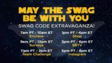 IMAGE: Swagbucks Swag Code Extravaganza: Code until 7pm!