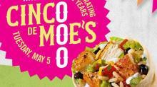 IMAGE: Moe's: $5 burritos & t-shirt giveaway today!