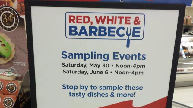 Kroger Red White & Blue event