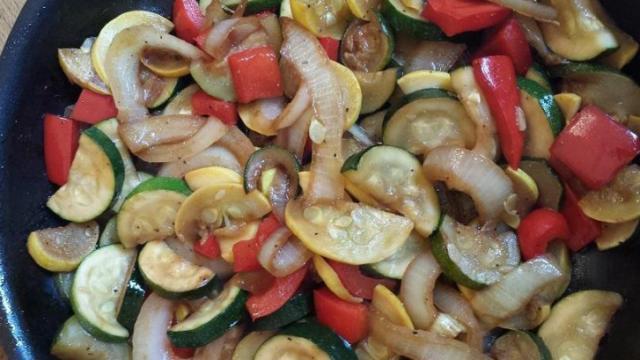 Sauteed teriyaki veggies