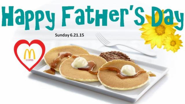 McDonald's Father's Day Offer for select Raleigh, NC locations.