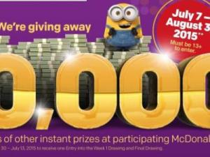 McDonald's Minion GIveaway