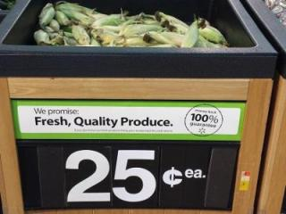 Corn for 25 cents per ear at Walmart