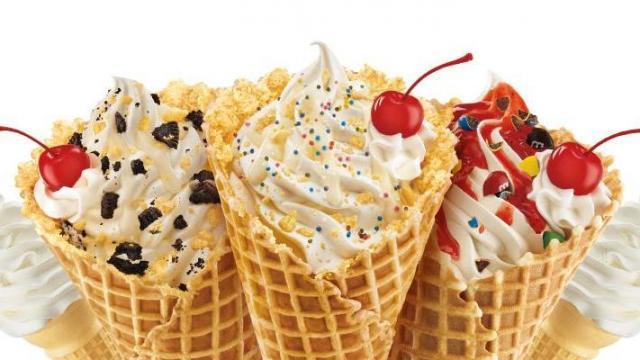 Sonic ice cream cones