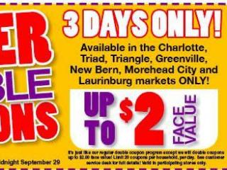 Harris Teeter Super Doubles 9/27/15