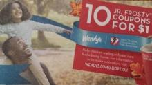 IMAGE: Wendy's deal: 10 Jr. Frosty drinks for $1