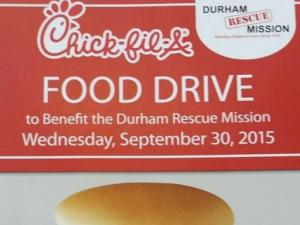 Chick-fil-A food drive